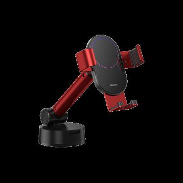 حامل هاتف للسيارة Baseus Simplism gravity car mount holder with suction base– أحمر