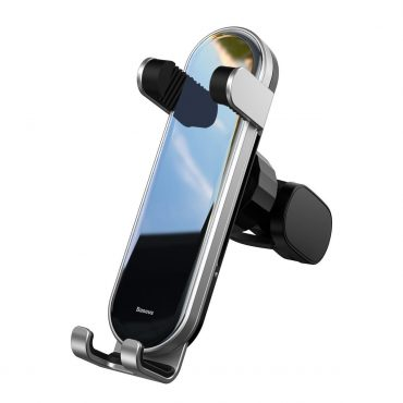 حامل هاتف للسيارة Baseus Penguin gravity phone holder- فضي