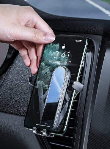 حامل هاتف للسيارة Baseus Penguin gravity phone holder- أسود