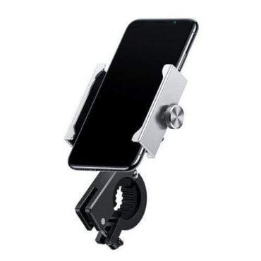 حامل هاتف للدراجات النارية  Baseus Knight Motorcycle holder(Applicable for bicycle)- فضي