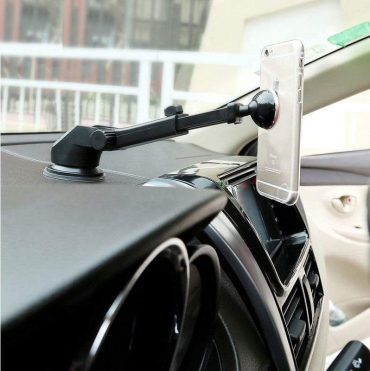 حامل هاتف للسيارة Baseus Solid Series Telescopic Magnetic Car Mount – فضي