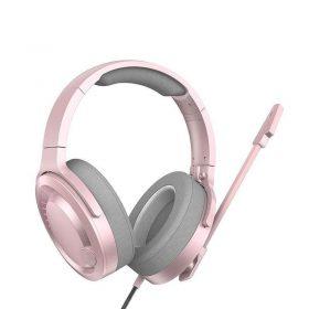 سماعة كمبيوتر ثلاثية الأبعاد Baseus GAMO Immersive Virtual 3D Game headphone(PC) – بينك