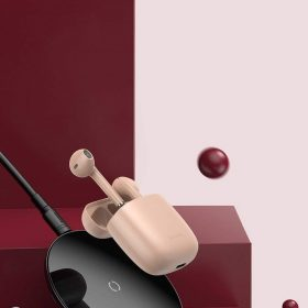 سماعة بلوتوث لاسلكية Baseus Encok True Wireless Earphones W04 Pro– بينك