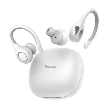 سماعة رياضية لاسلكية Baseus Encok True Wireless Earphones W17 – أبيض