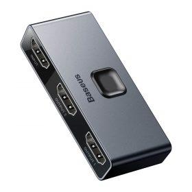 قاعدة التوصيل Baseus Enjoyment Series Type-CNotebook HUB Adapter (PD/HD4K*2/VGA/RJ45/SD/TF/USB*3/Adapter)رمادي غامق