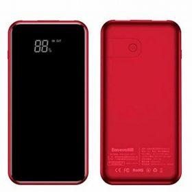 باور بانك Baseus full screen bracket wireless charge Power Bank 8000mAh أحمر