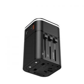 محول وشاحن Baseus Removable 2in1 universal travel adapter  PPS Quick Charger Edition 18W(Type-C+USB)- أسود