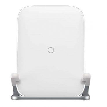 شاحن لاسلكي Baseus Rib Horizontal and Vertical Holder Wireless Charging 15W - أبيض