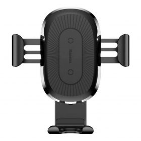 حامل الشحن اللاسلكي Baseus Wireless Charger Gravity Car Mount أسود