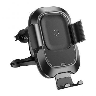 شاحن السيارة اللاسلكي Baseus Smart Vehicle Bracket Wireless Charger أسود