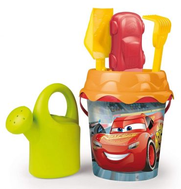 لعبة دلو الشاطئ BEACH - CARS 3 MM Garnished bucket