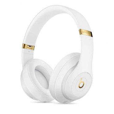سماعة رأس لاسلكية Studio 3 من Beats - أبيض