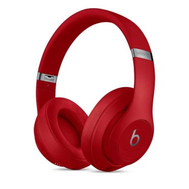 سماعة رأس لاسلكية Studio 3 من Beats - أحمر