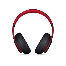 سماعة رأس لاسلكية Studio 3 من Beats - أسود/ أحمر