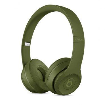 سماعات رأس لاسلكية Over-ear نوع Solo 3 من Beats - أخضر داكن