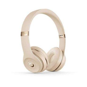سماعات رأس لاسلكية Over-ear نوع Solo 3 من Beats - ذهبي لامع