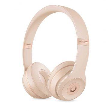 سماعات رأس لاسلكية Over-ear نوع Solo 3 منBeats  - ذهبي غير لامع