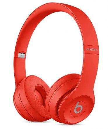 سماعات رأس لاسلكية Over-ear نوع Solo 3 منBeats  - أحمر فاتح