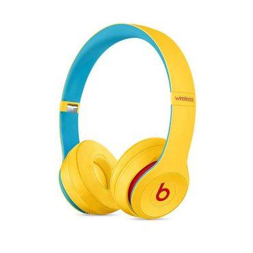سماعات رأس لاسلكية Over-ear نوع Solo 3 منBeats  (مجموعات Club) - أصفر مع أزرق