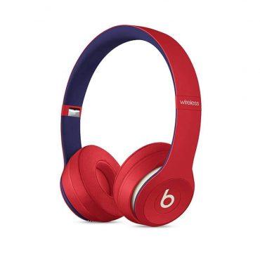 سماعات رأس لاسلكية Over-ear نوع Solo 3 منBeats  (مجموعات Club) - أحمر مع أزرق