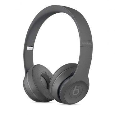 سماعات رأس لاسلكية Over-ear نوع Solo 3 منBeats  - رمادي داكن