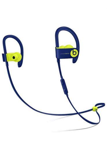 سماعات رأس ستيريو لاسلكية In-ear نوع Powerbeats 3 من Beats - أزرق مع فسفوري