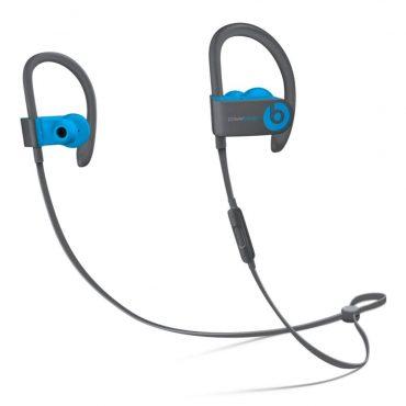سماعات رأس ستيريو لاسلكية In-ear نوع Powerbeats 3 من Beats - رمادي مع أزرق