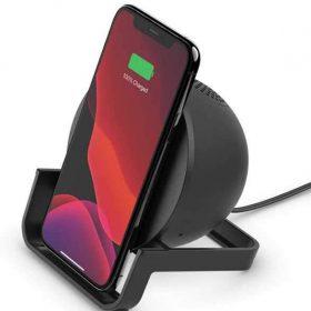 شاحن لاسلكي مع سبيكر  Belkin Wireless Charging Stand with Bluetooth Speaker 10W - Black