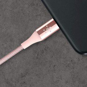 كابل لايتننج 1.2 ملم Ironman Kevlar من BELKIN –وردي فضي