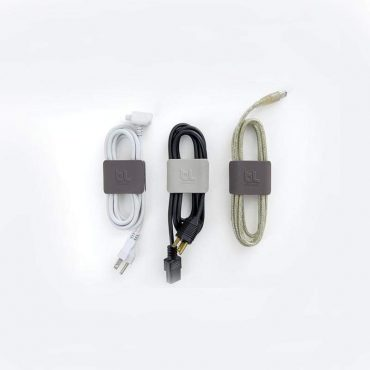 مشبك BLUELOUNGE - Cable Clip Large - أخضر / رمادي