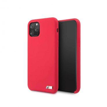 كفر أصلي من السيليكون مع شعار M لآيفون 11 Pro Max منBMW - أحمر