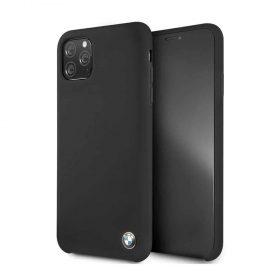 كفر BMW - Signature Collection Silicone Hard Case for iPhone 11 Pro Max - أسود