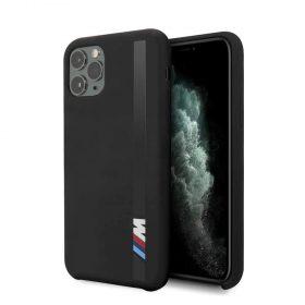 كفر BMW - Tone-on-Tone Stripe Silicone Hard Case for iPhone 11 Pro - أسود