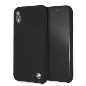 كفر BMW - Real Microfiber Silicone Case for iPhone XR - أسود
