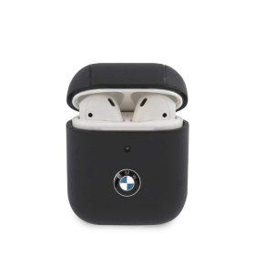 كفر BMW - Signature Collection PC Leather Case with Metal Logo for Airpods 1 / 2  - كحلي