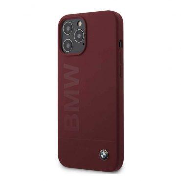 كفر BMW - Liquid Silicone Case Tone to Tone for iPhone 12 Pro Max - أحمر