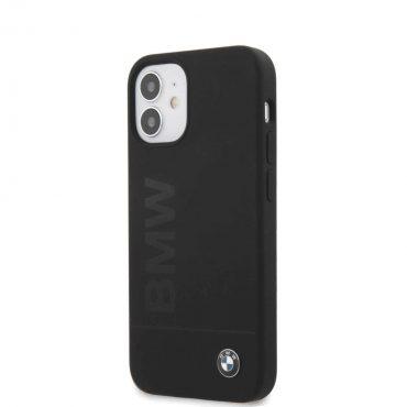"""كفر BMW Liquid Silicone Case Tone to Tone for iPhone 12 Mini (5.4"""") - Black"""