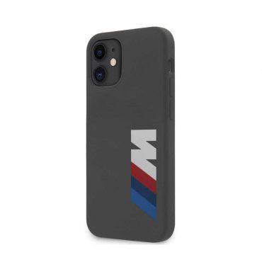"كفر  BMW M Collection Liquid Silicone Case Printed Big Logo for iPhone 12 Mini (5.4"") - Gray"
