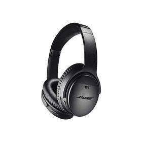 سماعة رأس لاسلكية QC35 وتدعم مساعد جوجل من Bose - أسود
