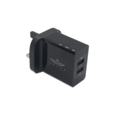 شاحن Brave 2-port USB Wall Charger أسود