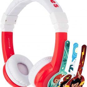 سماعات رأس قابلة للطي مع ميكروفون من BUDDYPHONES - أحمر