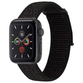 حزام ساعة Case-mate - 38-40mm Apple Watch Nylon Band - أسود / معدني