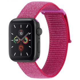 حزام ساعة Case-mate - 42-44mm Apple Watch Nylon Band - زهري