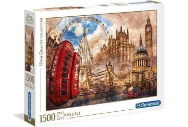 لعبة تطبيقات 1500 قطعة CLEMENTONI - VINTAGE LONDON