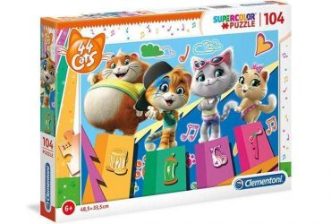 لعبة تطبيقات 104 قطعة  CLEMENTONI – 44 CATS