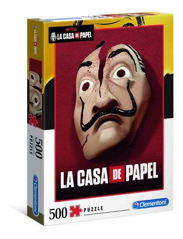 لعبة تطبيقات 500 قطعة CLEMENTONI - Adult Puzzle Netflix La Casa de Papel Masks