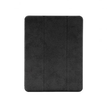 """كفر جلدي Leather Case with Pencil Slot for Apple iPad Pro 11"""" ( 2020 ) Comma - أسود"""