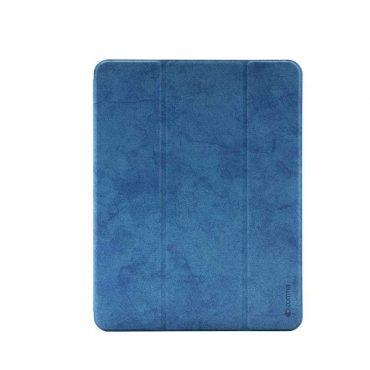 "كفر جلدي مع فتحة قلم Leather Case with Pencil Slot for Apple iPad Pro 11"" ( 2020 ) Comma - أزرق"