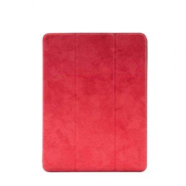 "كفر جلدي Leather Case with Pencil Slot Apple iPad 9.7"" Comma - أحمر"