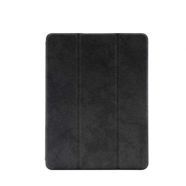 """كفر جلدي Leather Case with Pencil Slot Apple iPad 9.7"""" Comma - أسود"""